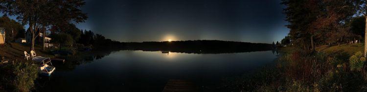sunset over schooley pond